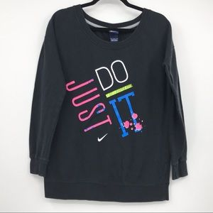 Nike Just Do It Crew Neck Sweater Size M Retro